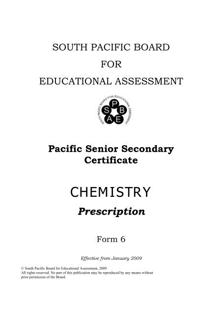 PSSC Chemistry Prescription eff09 pdf - SPBEA