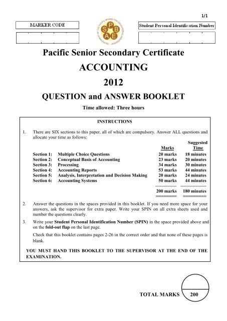 PSSC Accounting Q&A pdf