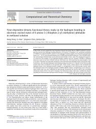 Time-dependent density functional theory study on the hydrogen ...