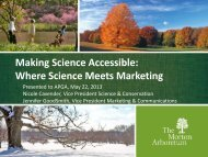 view this presentation as a PDF. - American Public Gardens ...