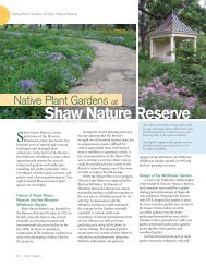 Native Plant Gardens at Shaw Nature Reserve - American Public ...