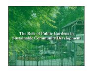 The Role of Public Gardens in Sustainable Community Development