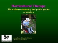 Horticultural Therapy - American Public Gardens Association
