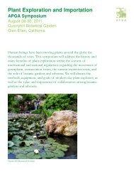 Plant Exploration and Importation - American Public Gardens ...
