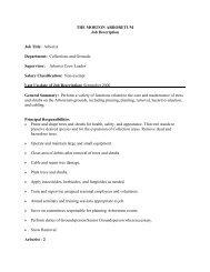 THE MORTON ARBORETUM Job Description Job Title: Arborist ...