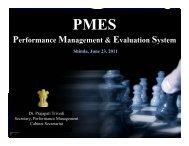 Performance Management & Evaluation System - Planning ...