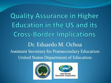 Quality Assurance in Higher Education in the US and its Cross ...