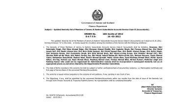 seniority list of accountants as on 01-01-012 - J & K Finance ...