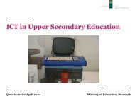 ICT in Upper Secondary Education