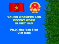 YOUNG WORKERS AND DECENT WORK IN VIET NAM Ph.D. Mac ...