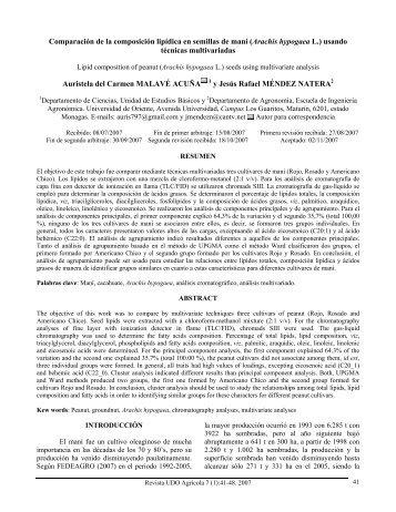 Descargar este artículo en Formato PDF - UDO Agrícola