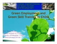 Green Employment and Green Skill Training in China