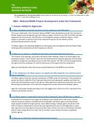 National project development Q&A Factsheet - Horticulture Industry ...