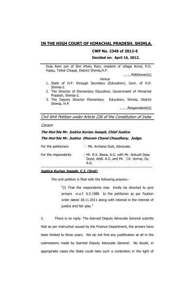 Instructions For Filing A Petition Under 28 Usc 2241 For Writ