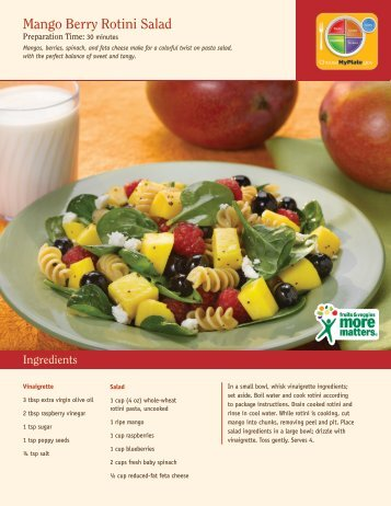 Mango Berry Rotini Salad - Produce for Better Health Foundation