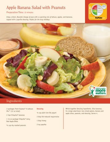 Apple Banana Salad with Peanuts - Produce for Better Health ...