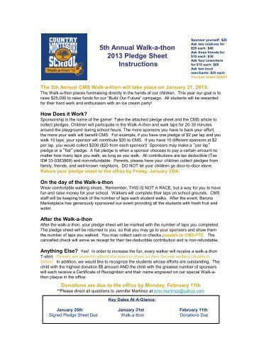 dance a thon sponsor form sheet 2013