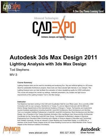 Autodesk 3ds Max Design 2011