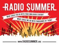 Radio Summer Postcard - Prometheus Radio Project