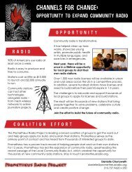 Brief on the opportunity with station profiles - Prometheus Radio ...