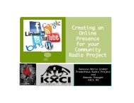 Creating an Online Presence for your Community Radio Project