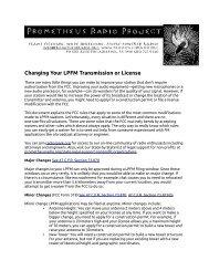 Changing Your LPFM Transmission or License - Prometheus Radio ...