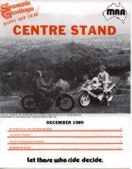 lei thole w'ho fide decide. - Motorcycle Riders Association of SA