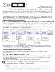 FCC Broadcast license renewal guide, 2011-2014 - Prometheus ...