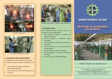 Mechanical Department.pdf - Arusha Technical College