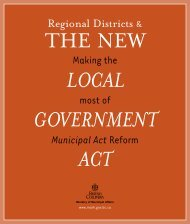 Regional Districts and the Local Government Act - Ministry of ...