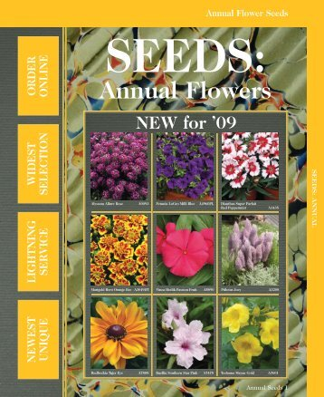 Annuals Tab - Grimes Seeds Online Store