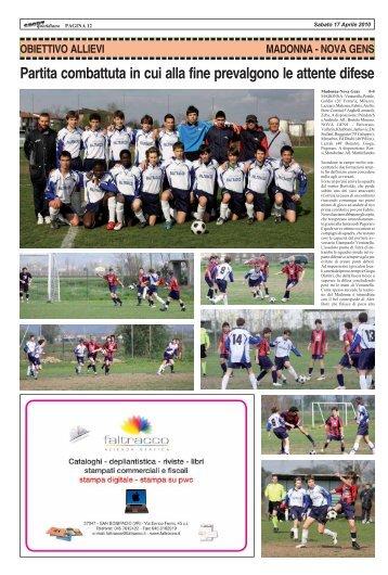 MADONNA - NOVA GENS - SPORTquotidiano