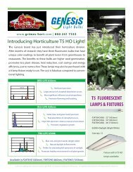 T5 FLUORESCENT LAMPS & FIXTURES - Grimes Horticulture