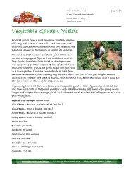 Vegetable Garden Yields - Grimes Horticulture