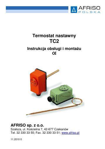 Termostat nastawny TC2 Instrukcja obsługi i montażu - Afriso