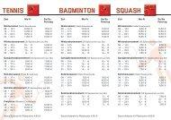 Tennis BadminTon squash - Sportpalast Singen