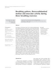 Breathing pattern, thoracoabdominal motion and muscular activity ...