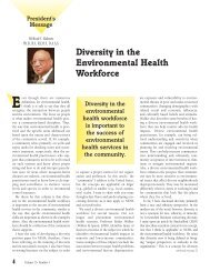 Diversity in the Environmental Health Workforce - National ...