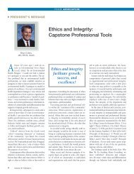 Ethics and Integrity: Capstone Professional Tools - National ...