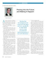 Peering Into the Future and Making It Happen! - National ...