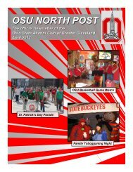 OSU NORTH POST The Ohio State Alumni Club of Greater ...