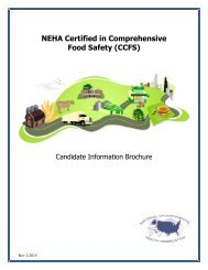 Candidate Information Brochure - National Environmental Health ...