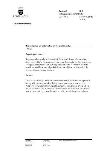 Bemyndigande att underteckna en överenskommelse med bilaga ...