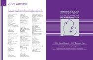 2006 Investors - Shiawassee Economic Development Partnership