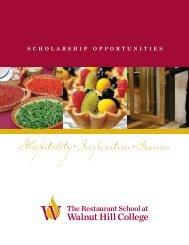 Scholarship Application - The Restaurant School at Walnut Hill ...