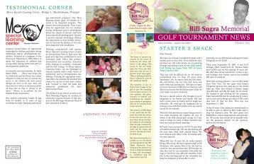 Spring 2011 Newsletter - Bill Sugra Memorial Fund