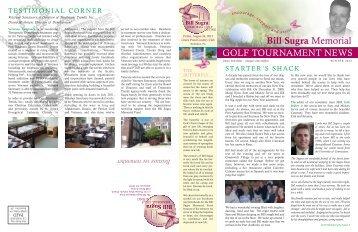 Spring 2012 Newsletter - Bill Sugra Memorial Fund