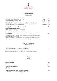 Vorspeisen und kalte Gerichte - Hotel Walther
