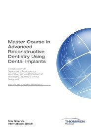 Master Course in Advanced Reconstructive Dentistry ... - Cwitt Dental