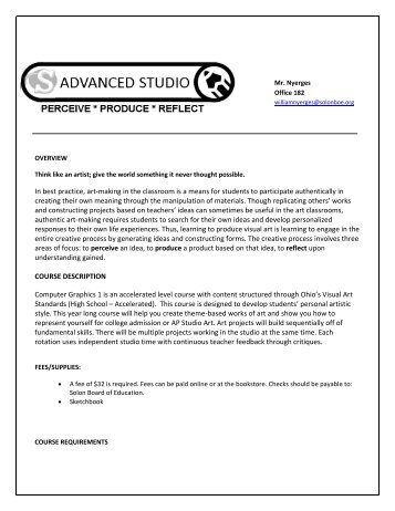 Advanced Studio Syllabus - Solon City Schools